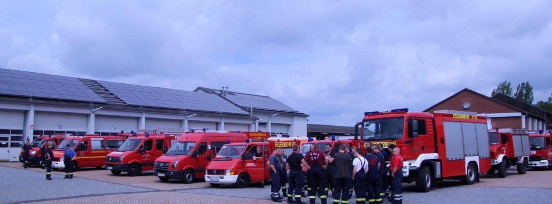 Hochwasser Unterstützung in Hildesheim durch Kreisfeuerwehrbereitschaft 2